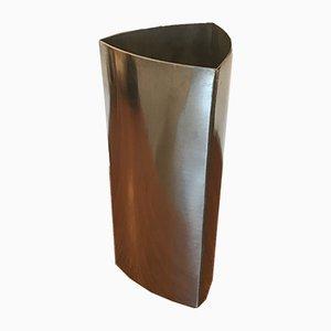 Aluminium Geometric Vase, 1970s