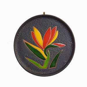 Decorative Ceramic Plate, 1960s