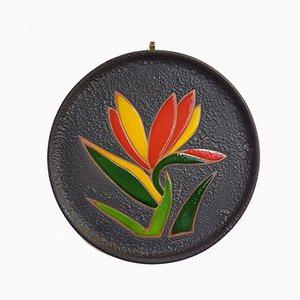Dekorativer Keramikteller, 1960er