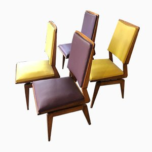 Side Chairs by Maurice Pré, 1950s, Set of 4