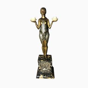 Escultura Art Déco de bronce de Cormier, años 20