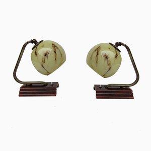 Lámparas de mesa Art Déco vintage. Juego de 2
