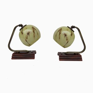 Vintage Art Deco Table Lamps, Set of 2