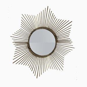 Spiegel aus Messing in Sonnen-Optik, 1950er