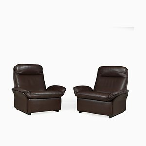 Leather Model DS49 Armchairs from de Sede, 1960s, Set of 2