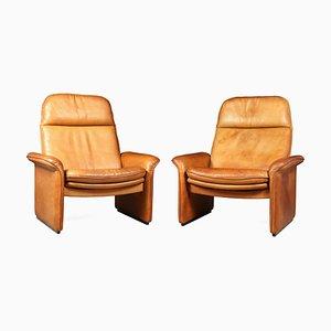 Poltrone DS50 reclinabili in pelle color cuoio di de Sede, anni '60, set di 2