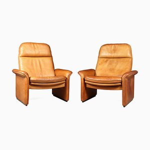 Tan Leather Model DS50 Reclining Armchairs from de Sede, 1960s, Set of 2