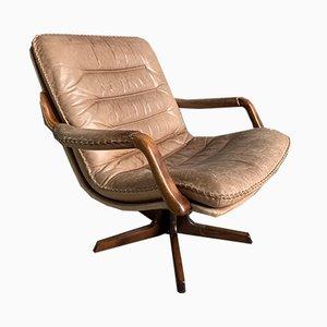 Leder Drehstühle von Berg Furniture für Berg Furniture, 1970er, 2er Set