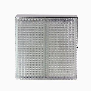 Deckenlampen aus Schwarzem Metall & Glas von Napako, 1960er, 2er Set