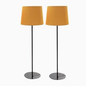 Scandinavian Modern Floor Lamps by Uno & Östen Kristiansson for Luxus, 1960s, Set of 2