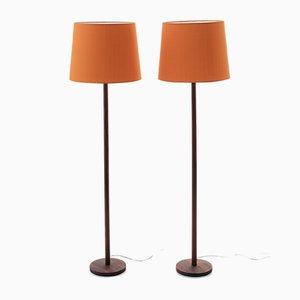 Moderne skandinavische Stehlampen von Uno & Östen Kristiansson für Luxus, 1950er, 2er Set