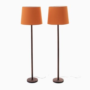 Scandinavian Modern Floor Lamps by Uno & Östen Kristiansson for Luxus, 1950s, Set of 2