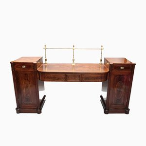 Antique Georgian Mahogany Pedestal Sideboard, 1800s