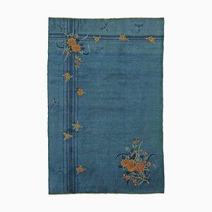 Alfombra china Art Déco en azul, años 30