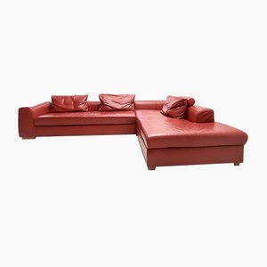 Vintage Leather Corner Sofa from Ewald Schillig