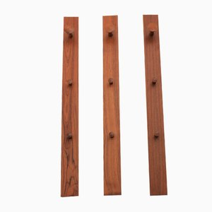Teak No. 140 Wall Racks by Aksel Kjersgaard for Odder Møbler, 1960s, Set of 3