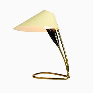 Lampada da tavolo vintage in ottone, anni '50
