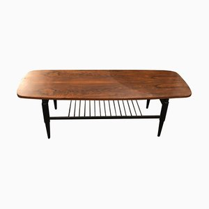 Italian Rosewood Coffee Table by Gio Ponti, 1960s