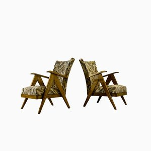 French Armchairs, 1950s, Set of 2