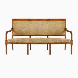 Französisches Walnuss Sofa, 19. Jh