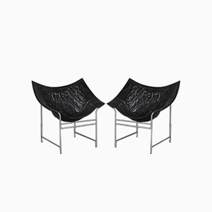 Leather Lounge Chairs by Gerard van den Berg for Montis, 1980s, Set of 2