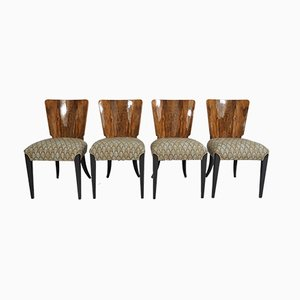 Art Deco Style Dining Chairs by Jindřich Halabala, 1940s, Set of 4