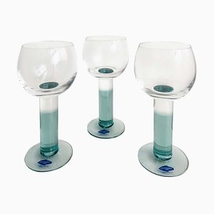 Vintage Hand-Blown Wine Glasses by Kerttu Nurminen