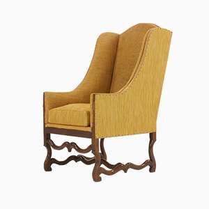 19th Century French Lounge Chair from Os De Mouton