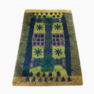 Grand Tapis Rya Scandinave Vintage par Arne Lindaas pour Sellgren AS
