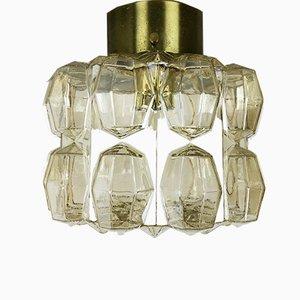 Deutsche Vintage Modenist Diamond Deckenlampe von Glashütte Limburg