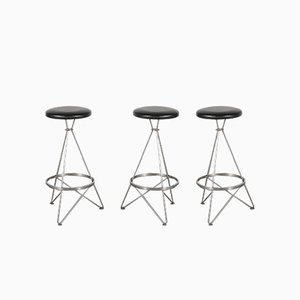 Metal Barstools, 1960s, Set of 3