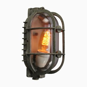 Mid-Century Industrial Glass Sconce from Industria Rotterdam