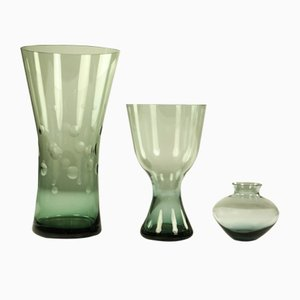 Vases by Wilhelm Wagenfeld for WMF, 1950s, Set of 3