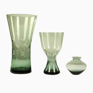 Vases par Wilhelm Wagenfeld pour WMF, années 50, Set de 3