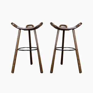 Mid-Century Swedish Barstools, Set of 2