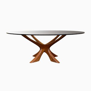 Mid-Century Danish Teak Coffee Table by Illum Wikkelso