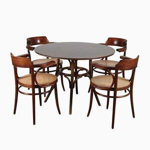 Set de Table de Salle à Manger & Chaises 233 en Bois Courbé par Michael Thonet, années 70, Set de 5