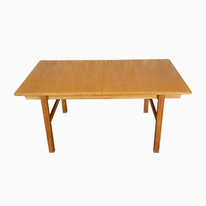 Large Mid-Century Danish Teak & Oak Dining Table