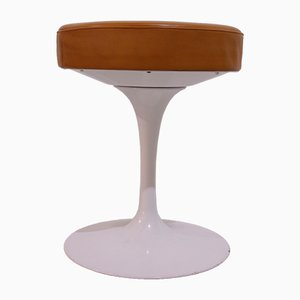 Leather Tulip Stool by Eero Saarinen for Knoll Inc. / Knoll International, 1970s