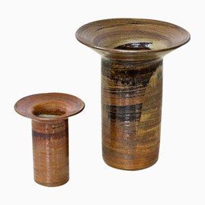 Vases en Grès par Carl-Harry Stålhane pour Designhuset, années 70, Set de 2