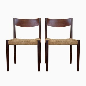 Mid-Century Teak Dining Chairs by Poul Volther for Frem Røjle, Set of 2