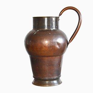 Großer Antiker Schwedischer Kupfer Krug
