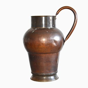 Large Antique Swedish Copper Pitcher