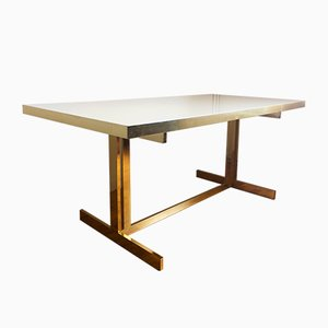 Large Dining Table by Willy Rizzo, 1980s