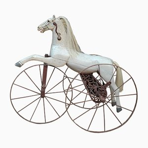 Antique Metal & Wood Horse Pedal Toy