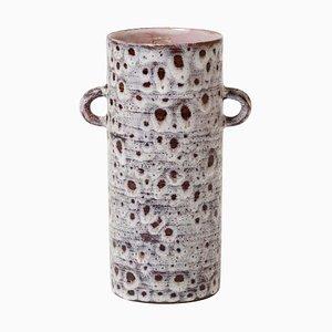 Französische Keramik Vase mit Griffen von Vallauris, 1950er