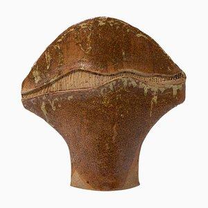 Mid-Century Stoneware Freeform Vase by Pichon