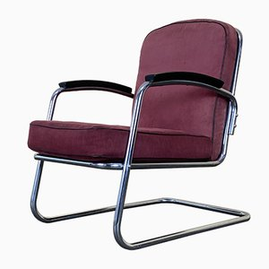 Mid-Century Steel Lounge Chair