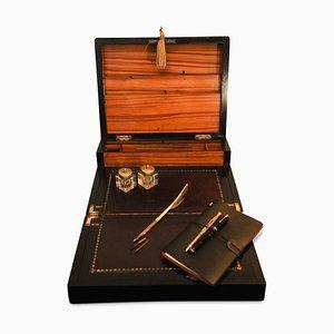 Antiker Schreibpult aus Wurzelholz & Marmor