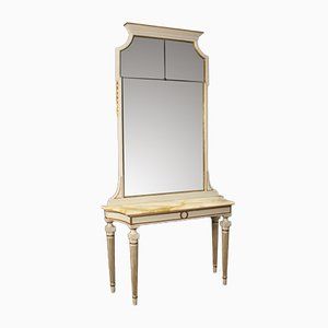 Italian Louis XVI Style Console Table with Mirror, 1950s